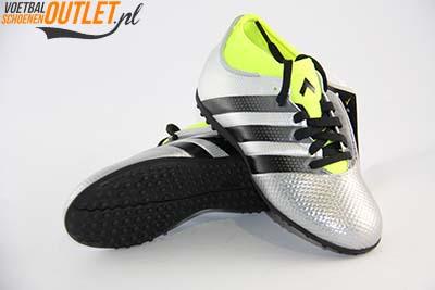 Adidas Ace 16.3 zilver kids (TF) voor- en onderkant(AQ3433)