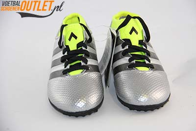 Adidas Ace 16.3 zilver kids (TF) voorkant (AQ3433)