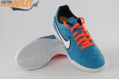 Nike Tiempo Genio blauw oranje kids (IC) voor- en onderkant (631528-418)