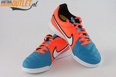 Nike Tiempo Genio blauw oranje kids (IC)