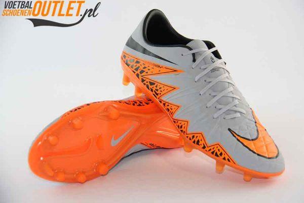 Nike Hypervenom Phinish grijs oranje voor- en onderkant (749901-081)