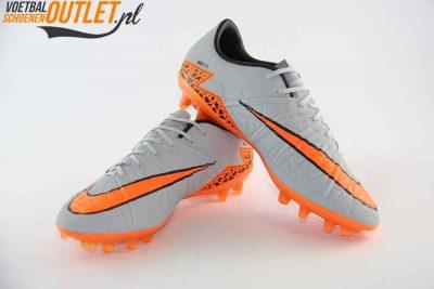 Nike Hypervenom Phinish grijs oranje FG