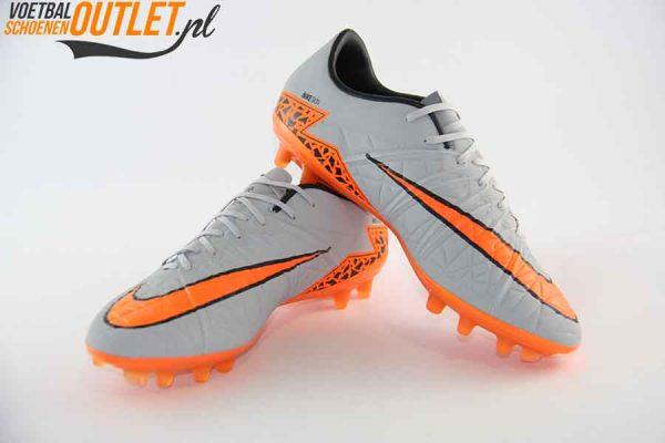 Nike Hypervenom Phinish grijs oranje voor- en zijkant (749901-081)
