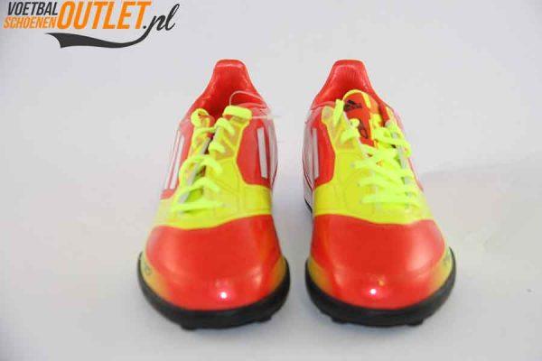 Adidas Adizero F10 geel oranje kids (TF) voorkant (V24000)