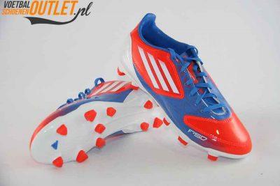 Adidas Adizero F10 rood blauw kids voor- en onderkant (V21317)
