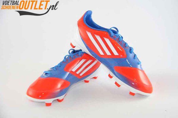 Adidas Adizero F10 rood blauw kids voor- en zijkant (V21317)
