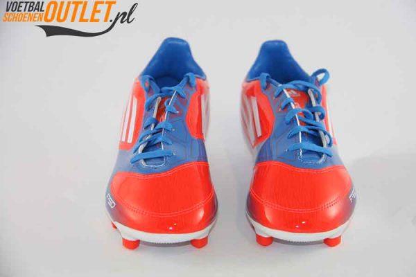 Adidas Adizero F10 rood blauw kids voorkant (V21317)