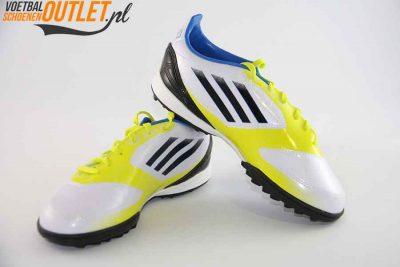Adidas Adizero F10 wit geel kids (TF)