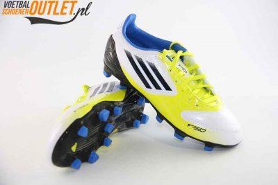 Adidas Adizero F10 wit geel zwart kids voor- en onderkant (V21315)