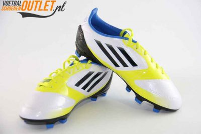 Adidas Adizero F10 wit geel zwart kids