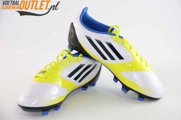 Adidas Adizero F10 wit geel zwart kids voor- en zijkant (V21315)
