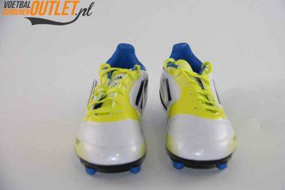 Adidas Adizero F10 wit geel zwart kids voorkant (V21315)