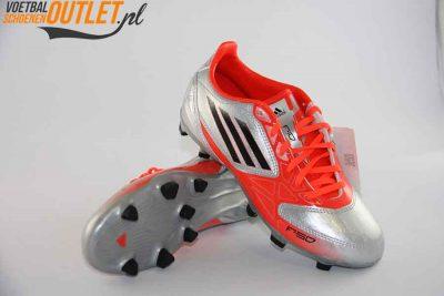 Adidas Adizero F10 zilver rood kids voor- en onderkant (V21316)