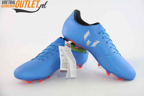Adidas Messi 16.3 blauw voor- en zijkant (S79632)