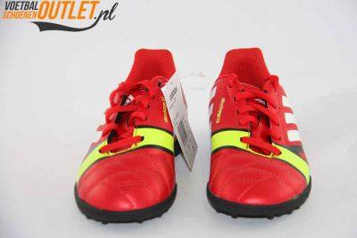Adidas Nitrocharge 3.0 rood kids (TF) voorkant (Q33719)
