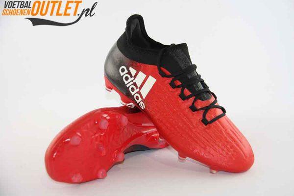 Adidas X 16.2 rood zwart voor- en onderkant (BB5632)