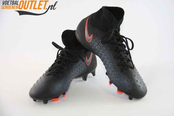 Nike Magista Obra zwart kids met sok voor- en zijkant (844110-008)