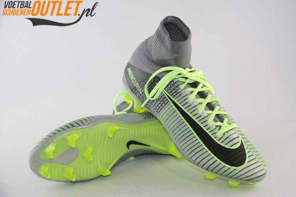 Nike Mercurial Superfly groen grijs met sok voor- en onderkant (831940-003)