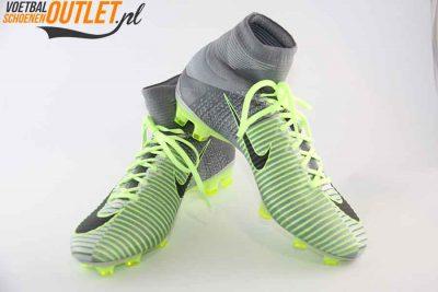 Nike Mercurial Superfly groen grijs met sok