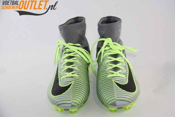 Nike Mercurial Superfly groen grijs met sok voorkant (831940-003)