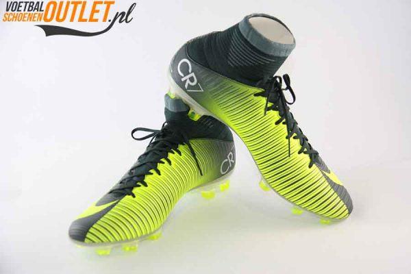 Nike Mercurial Veloce groen geel met sok voor- en zijkant (852518-376)