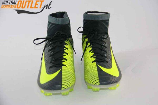 Nike Mercurial Veloce groen geel met sok voorkant (852518-376)
