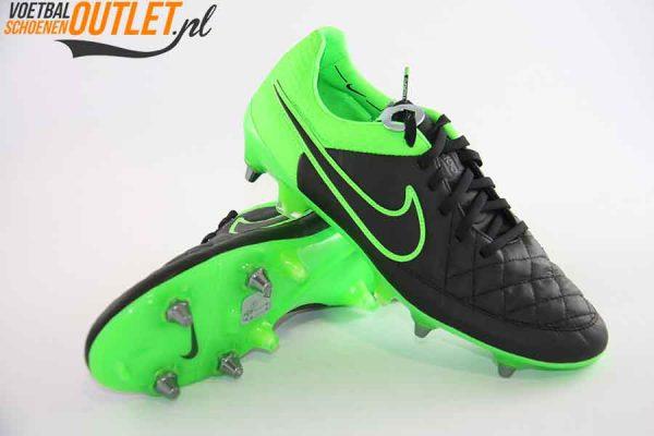 Nike Tiempo Legend zwart groen schroefnop voor- en onderkant (631614-003)