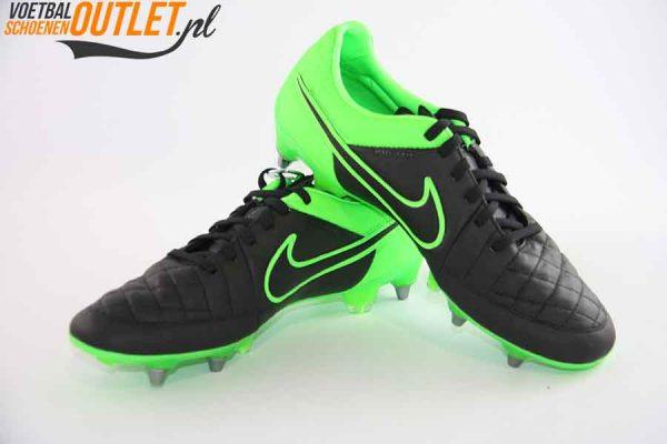 Nike Tiempo Legend zwart groen schroefnop voor- en zijkant (631614-003)