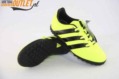 Adidas Ace 16.4 geel kids (TF) voor- en onderkant (S31982)