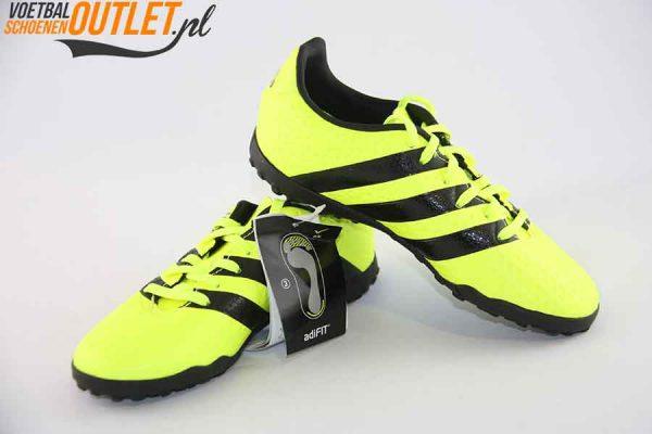 Adidas Ace 16.4 geel kids (TF) voor- en zijkant (S31982)
