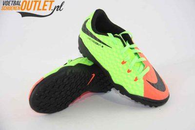 Nike Hypervenom Phelon groen zalm kids (TF) voor- en onderkant (852598-308)