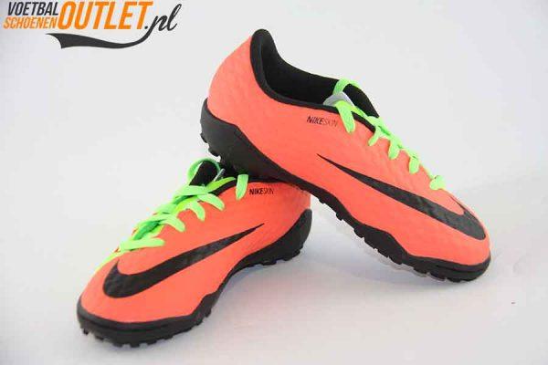 Nike Hypervenom Phelon groen zalm kids (TF) voor- en zijkant (852598-308)