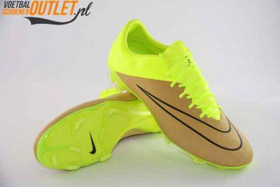 Nike Mercurial Vapor geel bruin voor- en onderkant (747565-707)