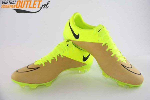 Nike Mercurial Vapor geel bruin voor- en zijkant (747565-707)