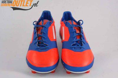 Adidas Adizero F10 blauw oranje voorkant (V21313)