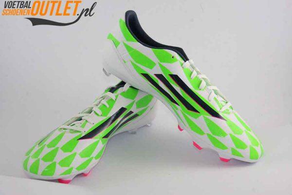 Adidas Adizero F10 wit groen voor- en zijkant (M17606)