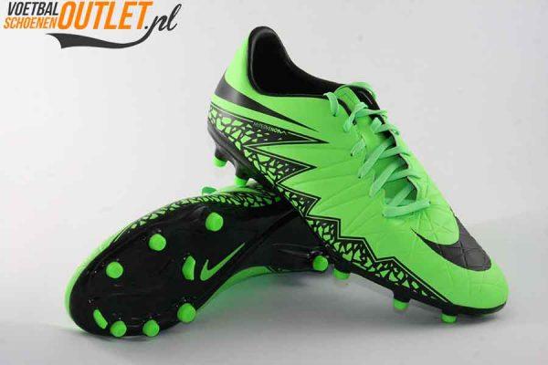 Nike Hypervenom Phelon groen zwart voor- en onderkant (749896-307)