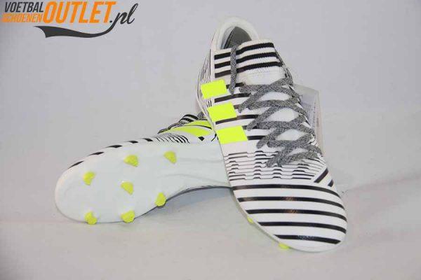 Adidas Nemeziz 17.3 zwart wit kids voor- en onderkant (S82426)