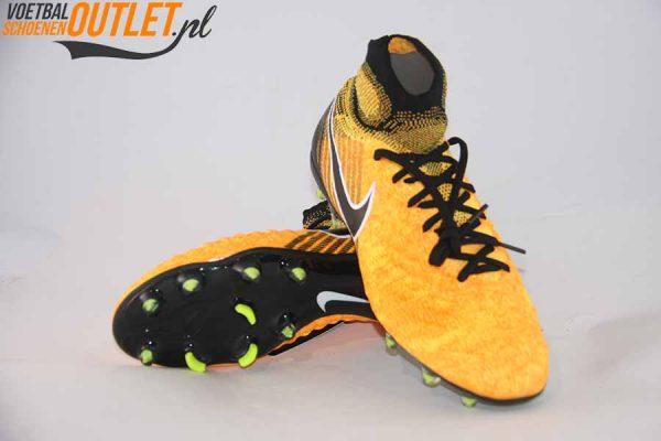 Nike Magista Obra oranje zwart kids voor- en onderkant (844410-801)
