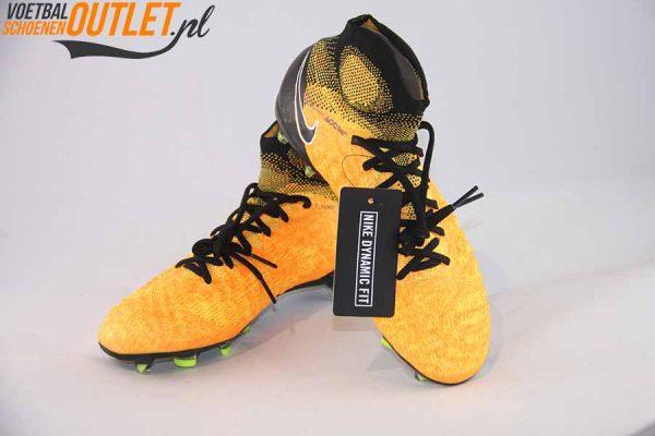 Nike Magista Obra oranje zwart kids voor- en zijkant (844410-801)