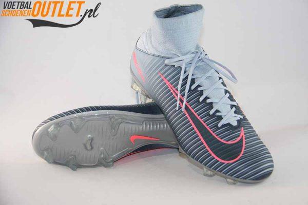 Nike Mercurial grijs met sok voor- en onderkant (831961-400)