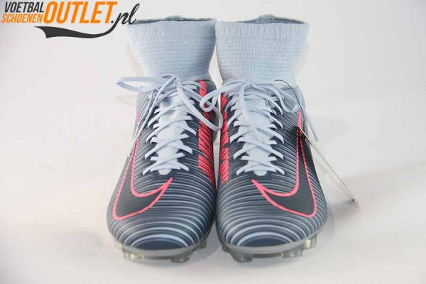 Nike Mercurial grijs met sok voorkant (831961-400)