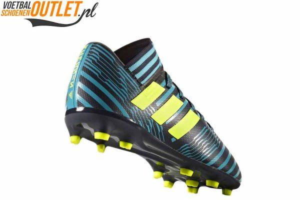 Adidas Nemeziz 17.3 blauw zwart kids achterkant (S82427)