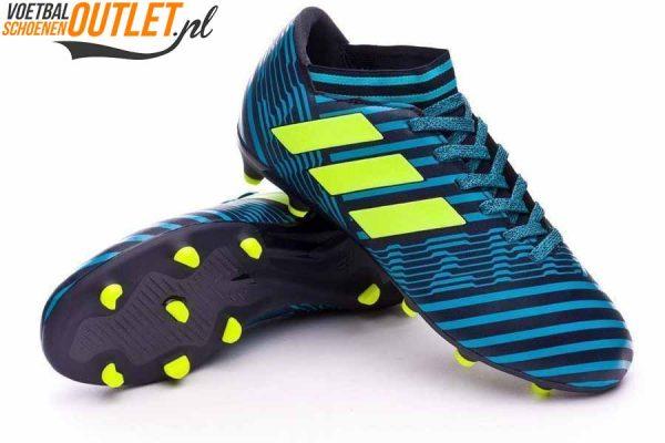 Adidas Nemeziz 17.3 blauw zwart kids voor- en onderkant (S82427)