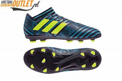 Adidas Nemeziz 17.3 blauw zwart kids voor- en zijkant (S82427)