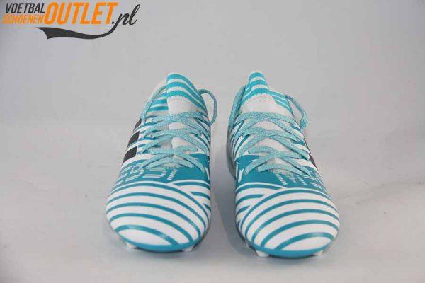 Adidas Nemeziz Messi 17.3 blauw wit kids voorkant (BY2411)