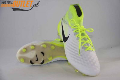 Nike Magista Obra wit geel met sok voor- en onderkant (844595-109)