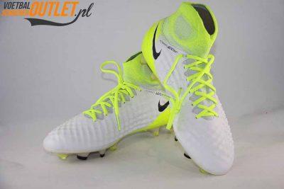 Nike Magista Obra wit geel met sok