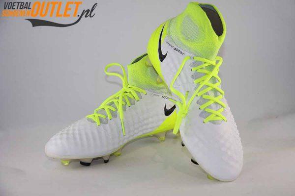 Nike Magista Obra wit geel met sok voor- en zijkant (844595-109)