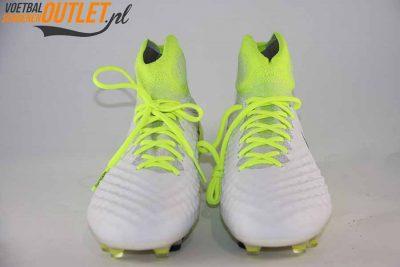 Nike Magista Obra wit geel met sok voorkant (844595-109)